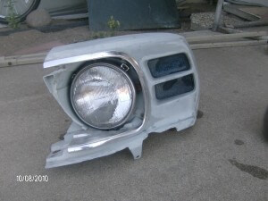 1970 mustang left headlight bucket