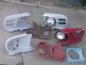 mustang headlight buckets