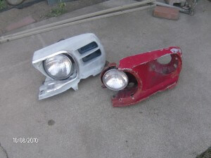 69-70 Mustang Headlight Buckets