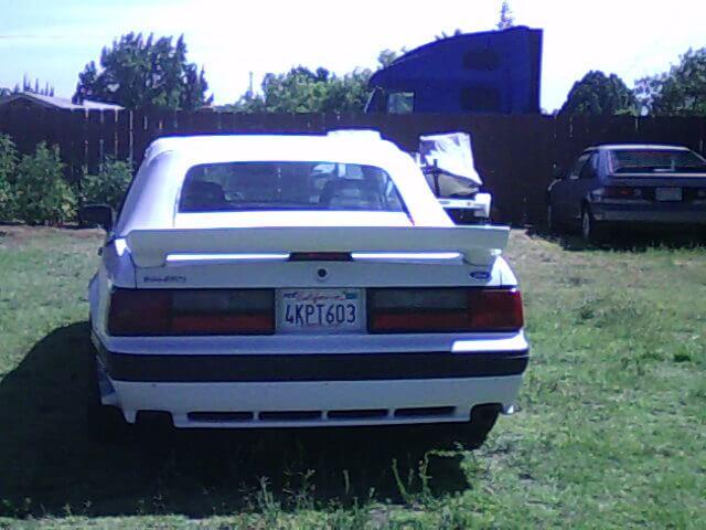 1989 Mustang Saleen Parts
